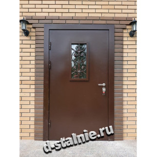Стальная дверь 00-24, Порошковое напыление + Порошковое напыление