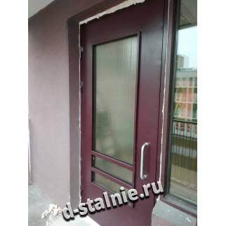 Стальная дверь 00-90, Порошковое напыление + Порошковое напыление