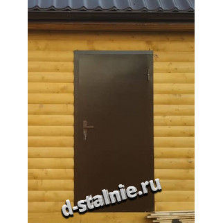 Стальная дверь 00-04, Краска + Вагонка