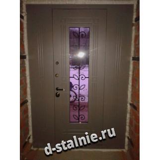 Стальная дверь КТ-001, МДФ + МДФ