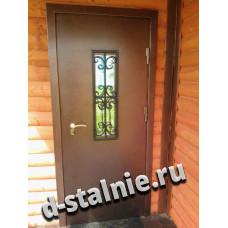 Стальная дверь КТ-004, Порошковое напыление + Порошковое напыление