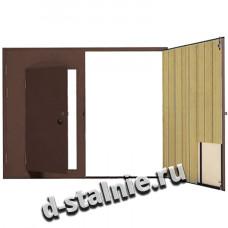 Стальная дверь 00-77, Грунт + Вагонка