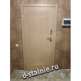 Стальная дверь 1-001, МДФ + МДФ