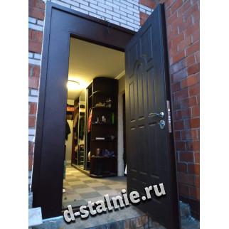 Стальная дверь 1-010, МДФ + МДФ