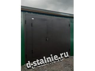 Стальные ворота с калиткой 00-13, Краска + Краска