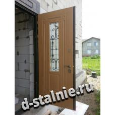 Входная металлическая дверь КТ-002,  МДФ +  МДФ