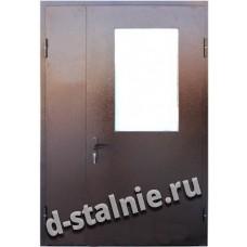 Стальная дверь П7, Порошковое напыление + Ламинат
