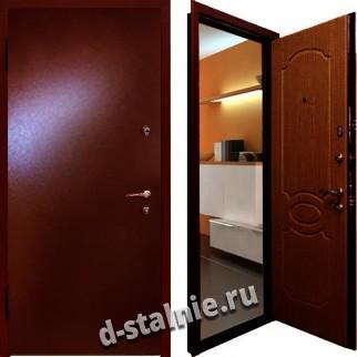 Стальная дверь Н-01, Порошковое напыление + Винилискожа