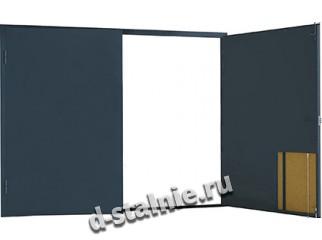 Гаражные ворота с 2-х сторон металл: без калитки