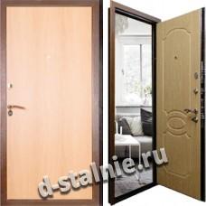 Стальная дверь Л-03, Ламинат + Вагонка