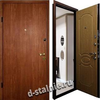 Стальная дверь Л-06, Ламинат + МДФ