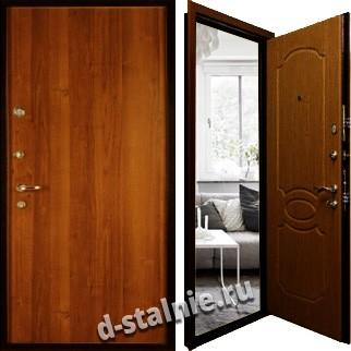 Стальная дверь Л-01, Ламинат + Ламинат