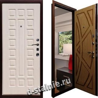 Стальная дверь М-02, МДФ + МДФ