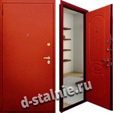 Стальная дверь П-03, Порошковое напыление + МДФ
