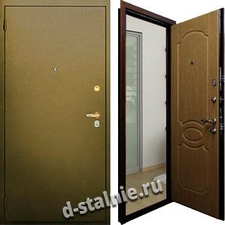 Стальная дверь П-04, Порошковое напыление + Порошковое напыление