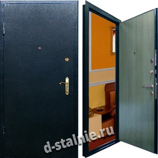 Стальная дверь П-02, Порошковое напыление + Ламинат