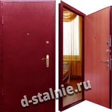 Стальная дверь П-01, Порошковое напыление + Винилискожа