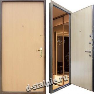 Стальная дверь Э-03, Ламинат + Ламинат