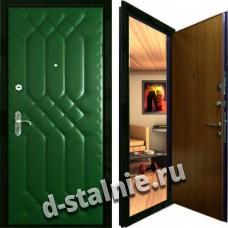 Стальная дверь Э-04, Нитроэмаль + Винилискожа