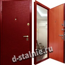 Стальная дверь Э-01, Винилискожа + Винилискожа