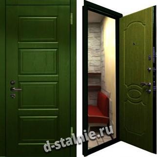 Стальная дверь Н-08, МДФ + Винилискожа