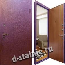 Стальная дверь К-01, Порошковое напыление + Ламинат