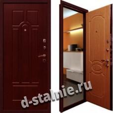 Стальная дверь Н-04, Порошковое напыление + МДФ
