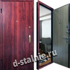 Стальная дверь Э-02, Ламинат + Винилискожа