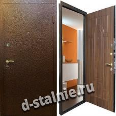 Стальная дверь К-03, Порошковое напыление + МДФ