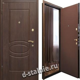 Стальная дверь 006, Порошковое напыление + МДФ