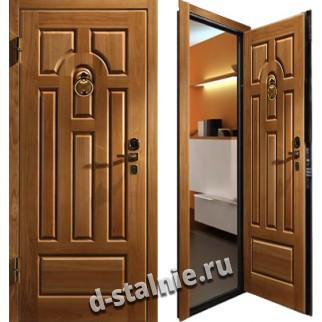 Стальная дверь 001, МДФ + МДФ