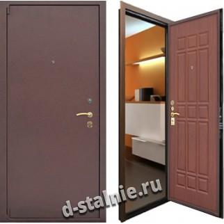 Стальная дверь 101, Порошковое напыление + МДФ
