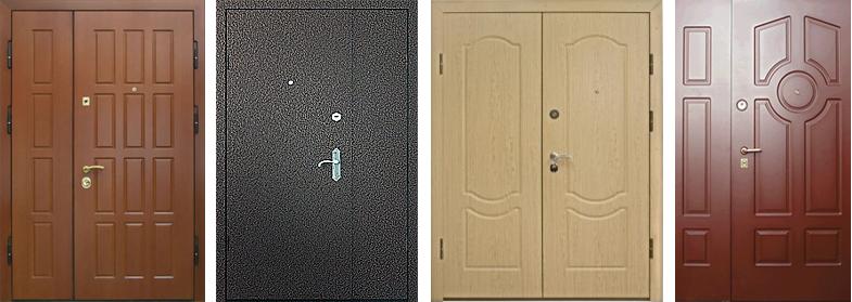 металлические двухстворчатые двери однолистовые
