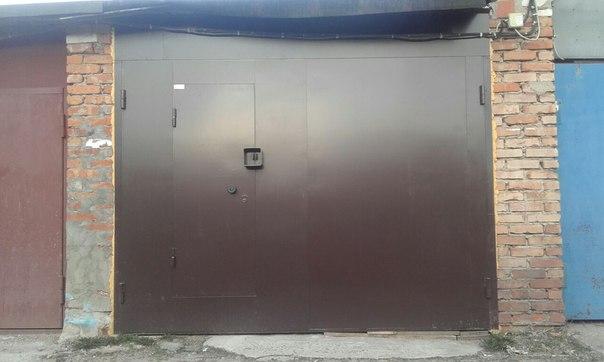 Установка железных ворот на гараж цена авито подольск гаражи купить